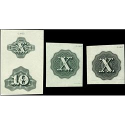 """U.S. Numeral """"10"""" Counters Used on Banknotes, Sto"""