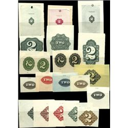 """U.S. Numeral """"2"""" Counters Used on Banknotes, Stoc"""