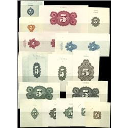 """U.S. Numeral """"5"""" Counters Used on Banknotes, Stoc"""