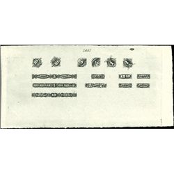 U.S. Small Numeral Compound Proofs (3 sheets)