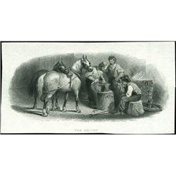 U.S. Blacksmith, Stone Worker and Shoe Maker Vign