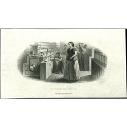 """U.S. Cotton & Textiles Vignettes Titled """"Spinning"""
