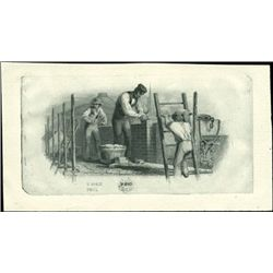 U.S. Men at Work Vignettes Used on Osbolete Bankn
