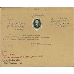 U.S. James Madison Vignette.