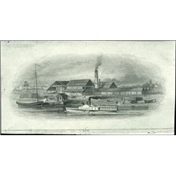 U.S. Early Vignettes of Trains & Ships Used on Ob
