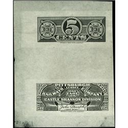 PA., Ohio. Railroad Ticket Proofs and Poors Manua