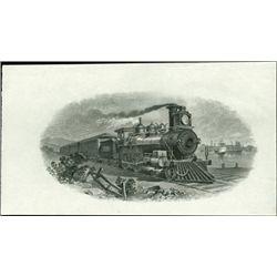 U.S. Train Vignettes Used on Stocks, Bonds and Mi