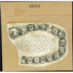 U.S. 30 State Seals Used in Border for Obsolete B