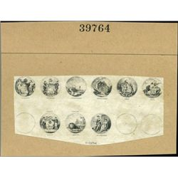 U.S. Compound Proofs With Miniature State seals (