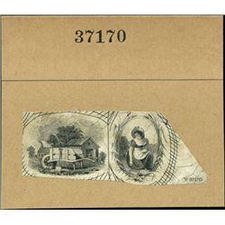 US. Compound Proof Miniature Vignettes Used on Ob