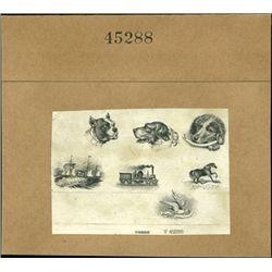 U.S. Compound Proof Miniature Vignettes with Anim