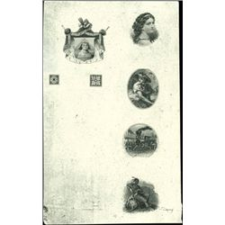 U.S. Compound Proof with 7 Miniature Vignettes