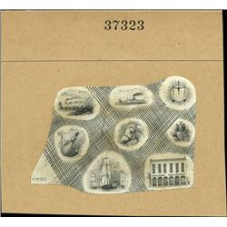 U.S. Miniature Vingettes Compound Proof used on O