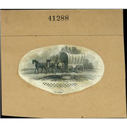 U.S. Early Covered Wagon and Horse Drawn Wagon Vi