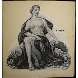 Allegorical Woman with Cornucopia of Fruit,