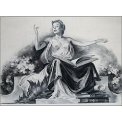 Allegorical Woman with Open Book,