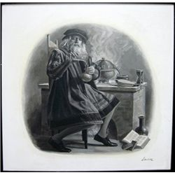 Lavin Painting of Chemist for Chemical Bank Vigne