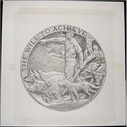 "U.S. Original Artwork of ""The Will to Achieve"" Vi"