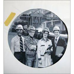 U.S. Original Artwork of Engineer Steel Worker Vi