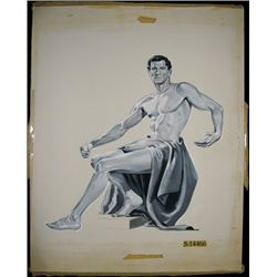 U.S. Original Artwork of Nude Allegorical Male Vi