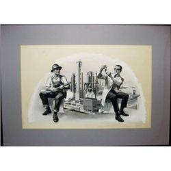 Painting of Scientist and Engineer,