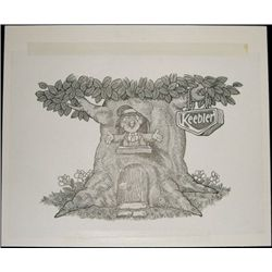 "U.S. Original Artwork of ""Ernie Keebler"" Vignette"