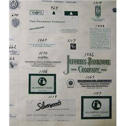CA. Jeffries Banknote Co. Proof Vignette Book,