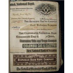 Republic Banknote Co. Proof Vignette Book,