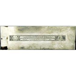 Cuba Republica de Cuba.  Philatelic Printing Plate