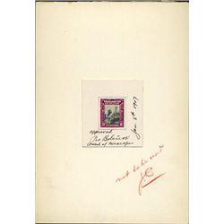 Nicaragua 30c Telegraph Stamp With Original Artwork