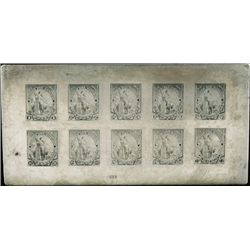 """Liberty"" Essay Stamp Printing Plate"