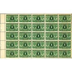 U.S. 1c, 2c, 5c South Carolina Business Tax Stamps.