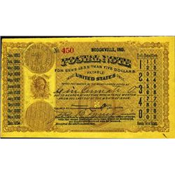 Indiana. U.S. Postal Note.