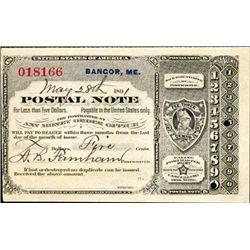 Maine. U.S. Postal Note.