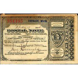 Michigan. U.S. Postal Note.