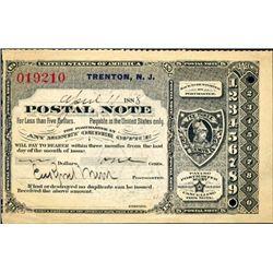 New Jersey. U.S. Postal Note.