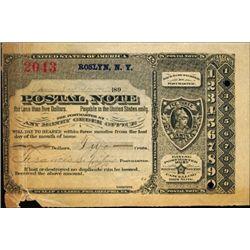 New York. U.S. Postal Note.