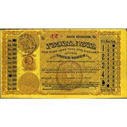 Pennsylvania. U.S. Postal Note.