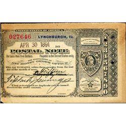 Virginia. U.S. Postal Note.