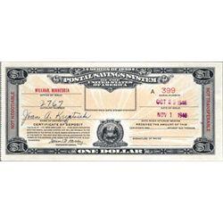Minnesota. U.S. Postal Savings System - Series of
