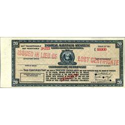 U.S. Postal Savings System -CD.
