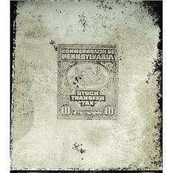 PA.  U.S. Stock Transfer Tax Printing Plate.