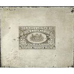 PA. U.S. Stock Transfer Tax Printing Plate