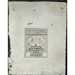 PA. U.S. Stock Transfer Tax Stamp Printing Plate
