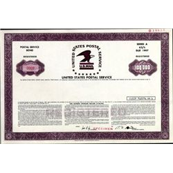 U.S. United States Postal Service Registered Bond.