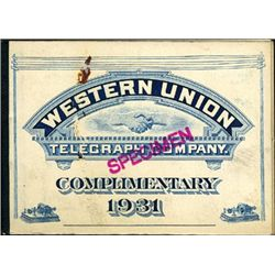 Western Union 5c, 25c Telegraph Complete Booklet