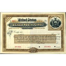 New York. U.S. United States Sealed Postal Card Co
