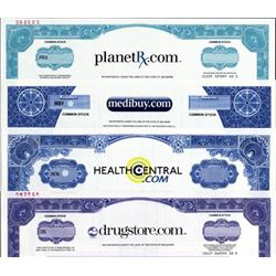 U.S. Medical Related Dot Coms Stock Certificates
