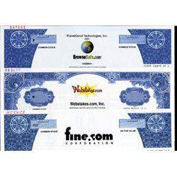 Pre-Bubble Dot Coms Stock Certificates (8).