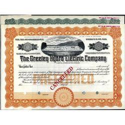 Colorado. U.S. Greeley Hydro Electric Company.